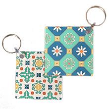 porte clés carré double face