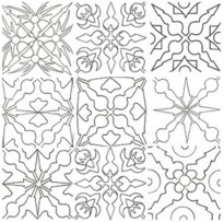 coloriage 9 formettes